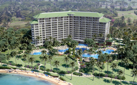 Rendering of Hyatt Kā'anapali Beach, a Hyatt Residence Club Resort (Photo: Business Wire)