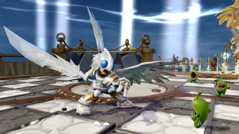 Knight Light, one of two new Trap Masters, appears in the Skylanders® Trap Team Light Element Expans ...