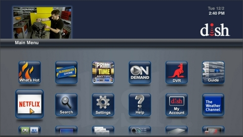 DISH integrates Netflix into its Hopper DVR. The app is available on the Hopper main menu. (Photo: Business Wire)