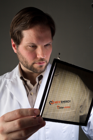 Dr. Scott Hammond, Principal Scientist, works on SolarWindow™ development. (Photo: New Energy Technologies, Inc.)
