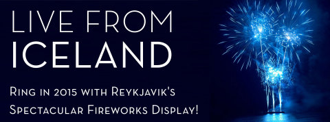 Stream Reykjavik, Iceland's spectacular New Year's Eve fireworks show live at www.IcelandNaturally.com on December 31 at 7 p.m. EST. (Graphic: Business Wire)