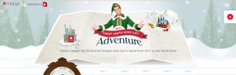 Macy's sets new GUINNESS WORLD RECORDS title for the longest wish list to Santa; follow Gadget the Elf's journey to deliver the wishes via macys.com/santawishlist (Graphic: Business Wire)