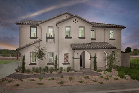 "A 2,270 square foot KB home modeled at the builder's Fire Rock Ranch ""The Villas"" community in Chandler, Ariz. (Photo: Business Wire)"