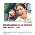 Winning photo of the internal campaign submitted by Jill Hoyt, regional senior compliance advisor for Lincoln Financial Network. Hoyt's photo featured her with her nephew Jaxson, and ran in the December 16, 2014 issue of USA Today.