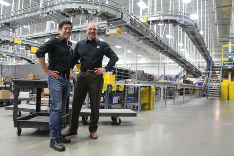 Engineer and longtime Mouser Electronics' customer Grant Imahara of Mythbusters fame (left) receives ...