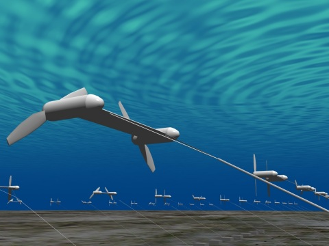 Underwater Floating Type Ocean Current Turbine System (Photo: Business Wire)