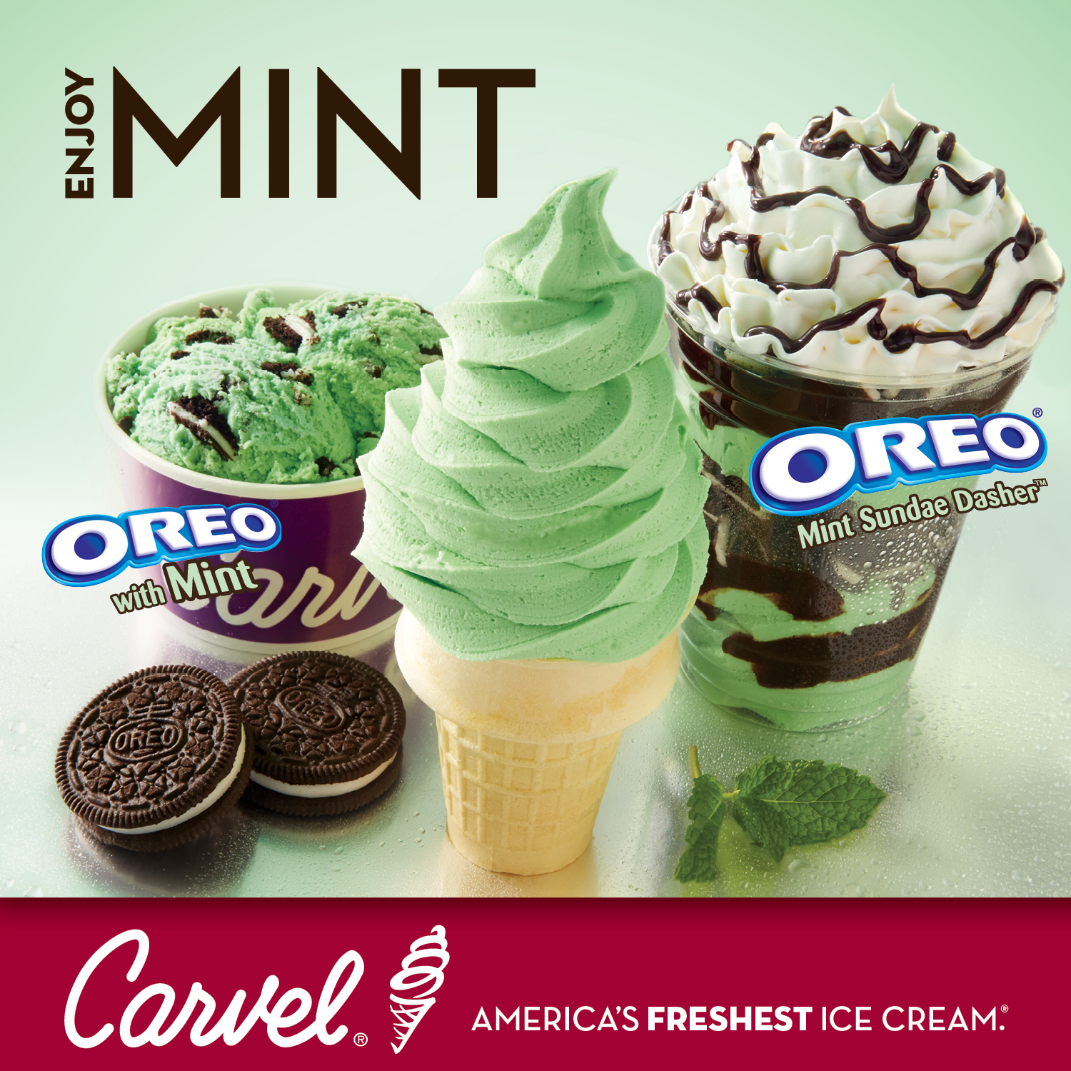 Carvel teams up with oreo for new mint ice cream cake and novelty carvel teams up with oreo for new mint ice cream cake and novelty treat business wire ccuart Image collections