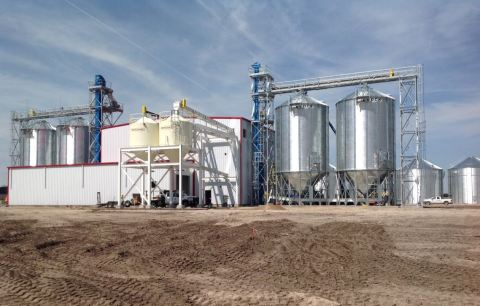 Prairie Sky Seed greenfield seed conditioning facility and warehouse in Hemingford, Neb. (Photo: Business Wire)
