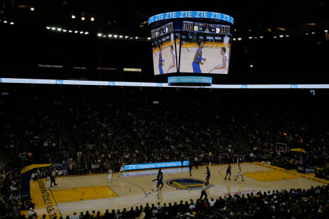 ZTE Unveils New Brand Identity in Warriors Game. (Photo: Business Wire)