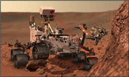 In this image, the methane gas detector device is at work on Mars (artist's concept). The device is  ...