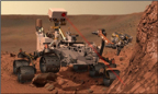 In this image, the methane gas detector device is at work on Mars (artist's concept). The device is housed inside the main Rover compartment and is used to analyze gas samples. Image Credit: NASA/JPL-Caltech