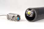 About the size of a toy car, the device has the potential to drastically reduce the time it takes to inspect gas pipelines inserted in casing pipe. Image Credit: Honeybee Inc./NYSEARCH