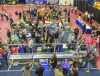 More than 75,000 high-school students gathered at 107 local FIRST® Robotics Competition Kickoff locations worldwide. (Photo: Business Wire)