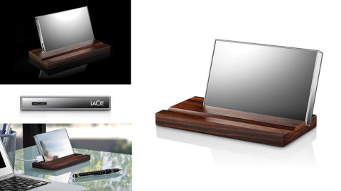 LaCie Mirror is a Reflective Hard Drive Designed by Pauline Deltour for LaCie Using Corning Gorilla Glass (Graphic: Business Wire)