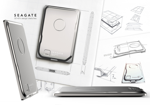 The new Seagate Seven(TM) drive is the slimmest way to carry 500GB (Graphic: Business Wire)