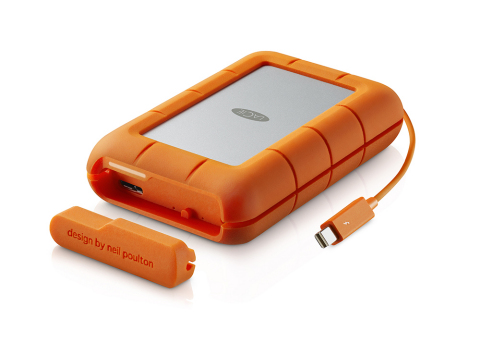 LaCie Rugged RAID featuring integrated cable (Photo: Business Wire)