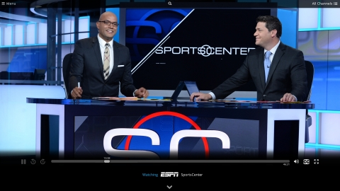 Sling TV's over-the-top service to feature live sports, including ESPN and ESPN2. (Photo: Business Wire)