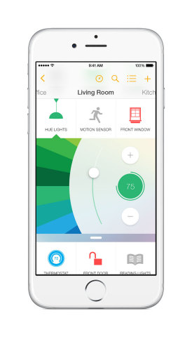 Insteon Mobile App - Control Lighting Color (Photo: Business Wire)