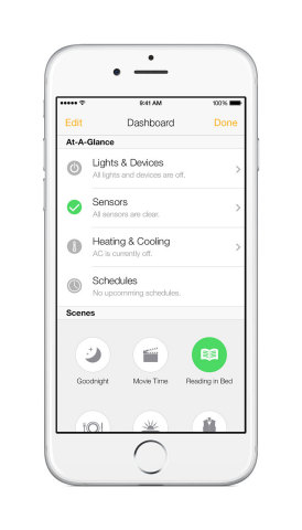Insteon Mobile App Dashboard (Photo: Business Wire)