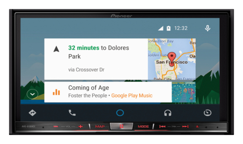 Pioneer AVIC-8100NEX Android Auto Home Screen (Photo: Business Wire)