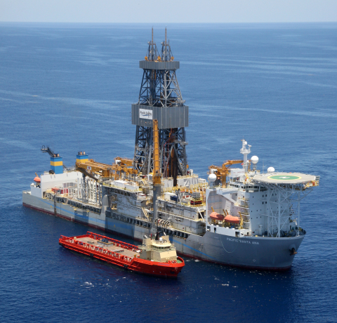 The Anchor well was drilled by Pacific Drilling's Pacific Santa Ana drillship (Photo courtesy of Pac ...