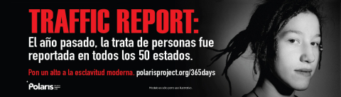 Clear Channel Outdoor, Polaris and McCain Institute anti-human trafficking campaign creative with statistics on human trafficking (Graphic: Business Wire)