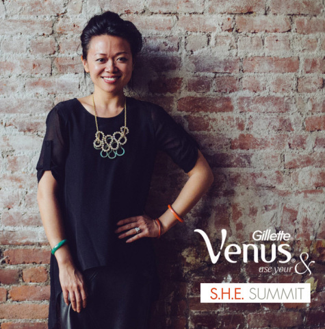 Gillette Venus partners with Claudia Chan, Founder of S.H.E. Summit Global Conference & Women's Empowerment Expert, to educate women in identifying their stereotypical labels and support them to use their ANDs. (Photo: Business Wire)