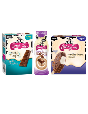 The Skinny Cow® brand unveils innovative and indulgent new products across three categories, including first-ever beverage line. Commemorating its 21st anniversary, the Skinny Cow brand introduces new ice cream and chocolate candy flavors, and breakthrough Creamy Iced Coffee Drinks. (Photo: Business Wire)
