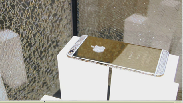 The Lux iPhone 6 Plus Diamond Select by Brikk. 12.80 carats of natural diamonds. 24k gold or 950 platinum. www.brikk.com