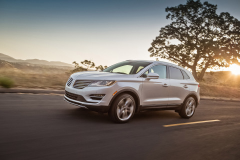 The Lincoln MKC, the brand's first small premium utility vehicle, went on sale last summer and was warmly received by both consumers and third-party experts. (Photo: Business Wire)