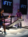 The large desk surface quickly swings out of the way easily, while still keeping your laptop and projects in place so that you can set up the treadmill. See it at booth #74321 at the Sands Expo Center. (Photo: Business Wire)