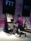 The iFit NordicTrack Desk Treadmill folds up neatly to allow space saving ability while still letting you get your work done. See it at booth #74321 at the Sands Expo Center. (Photo: Business Wire)