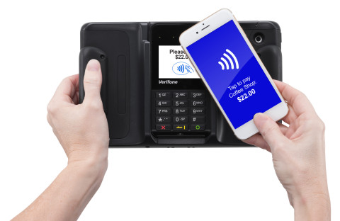 Verifone Offers Merchants a Single mPOS Payment Terminal to Support All Major Smart Device Options (Photo: Business Wire)