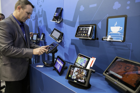 Intel is showcasing a broad portfolio of Intel-based mobile solutions offering a choice of form fact ...
