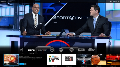 Sling TV will deliver live sports, lifestyle, family, news and information channels, Video-On-Demand entertainment and the best of online video to broadband-connected devices at home and on-the-go. (Photo: Business Wire)