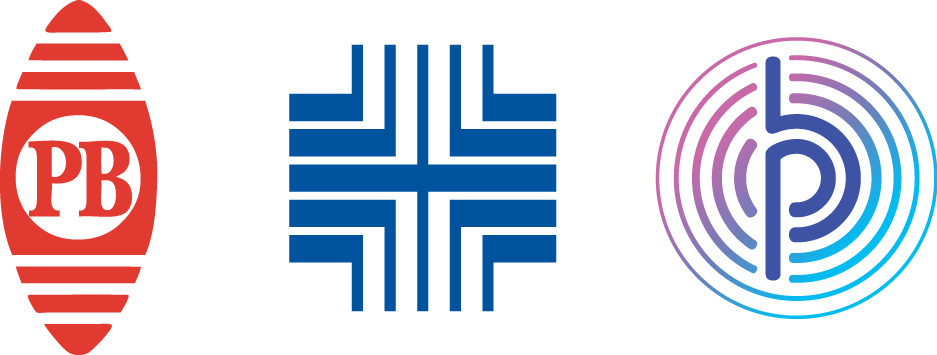 Pitney Bowes Three Brand Symbols - 1930, 1971 and 2015 (Graphic: Business Wire)