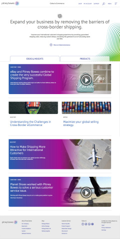 Pitney Bowes Web Site Ecommerce (Graphic: Business Wire)