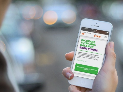 Cigna Compass web app tells customers of available cash rewards for improving your health. (Photo: Business Wire)