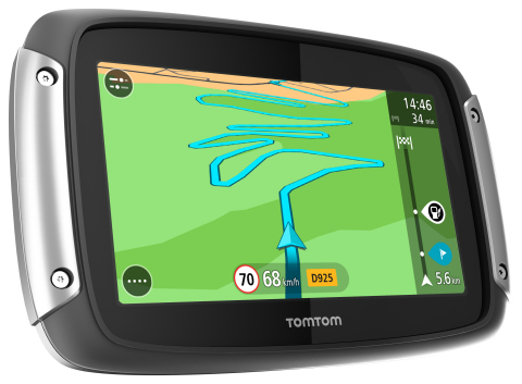 Introducing the all-new TomTom RIDER, designed to make every motorcycle ride more exciting. For the first time, bikers can choose the level of twists and turns they want to ride to create their own adrenaline-filled adventure. (Photo: Business Wire)