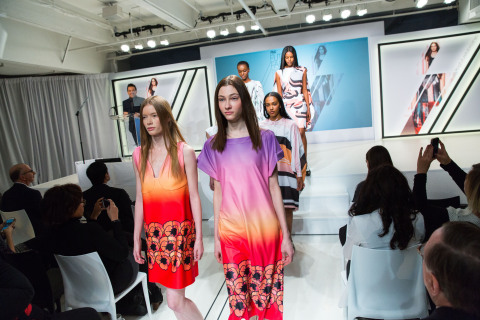 Giles Deacon Washable Fashion Runway Show at P&G Future Fabrics (Photo: Business Wire)