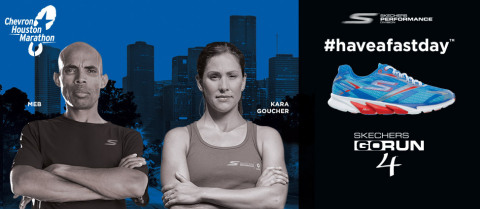 Skechers Performance launches the official footwear and apparel of the 2015 Chevron  Houston Marathon . 89edc5be053