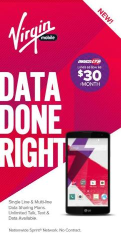 Virgin Mobile & Walmart roll out new Data Done Right data sharing plans. (Graphic: Business Wire)