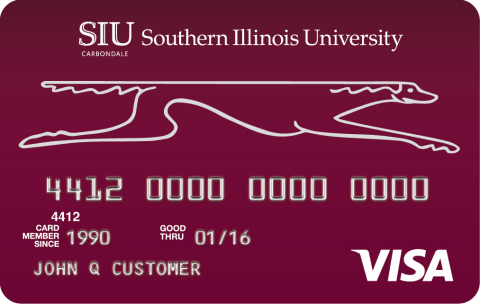 Southern Illinois University (SIU) Alumni Association credit card issued by Commerce Bank. (Photo: B