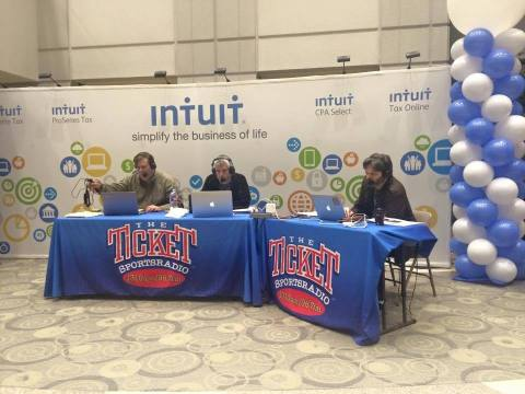 Who says taxes can't be fun! Intuit celebrates the start of tax season with 1310 The Ticket's Mornin ...