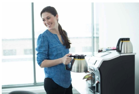 Keurig offers a simple solution to offices who want to up their coffee-game - in addition to a full  ...