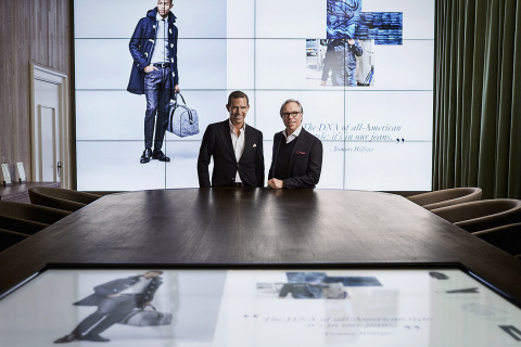 Tommy Hilfiger and Daniel Grieder in the Digital Showroom (Photo: Business Wire)