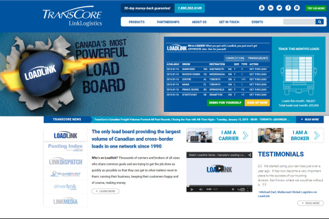 TransCore.ca Home Page (Photo: Business Wire)