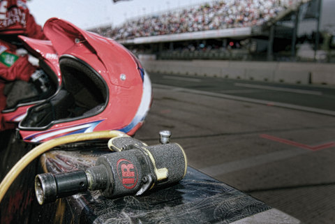 An Ingersoll Rand Thunder Gun waits to be put into service at the Darlington Raceway in Darlington, South Carolina. Ingersoll Rand is now the Official Power Tools of NASCAR. (Photo: Business Wire)