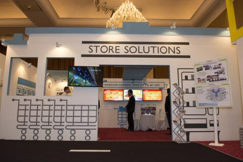 松下解決方案展覽會(柬埔寨)儲存解決方案展區(照片:美國商業資訊)