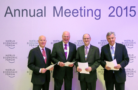 From left to right: Daniel S. Glaser, President & CEO of Marsh & McLennan Companies, Robert S. Miller, Non-Executive Chairman of the Board of American International Group, Inc., Michael Kerner, CEO General Insurance at Zurich Insurance Group and Alexander S. Moczarski, President & CEO of Guy Carpenter & Company and Chairman of Marsh & McLennan International.